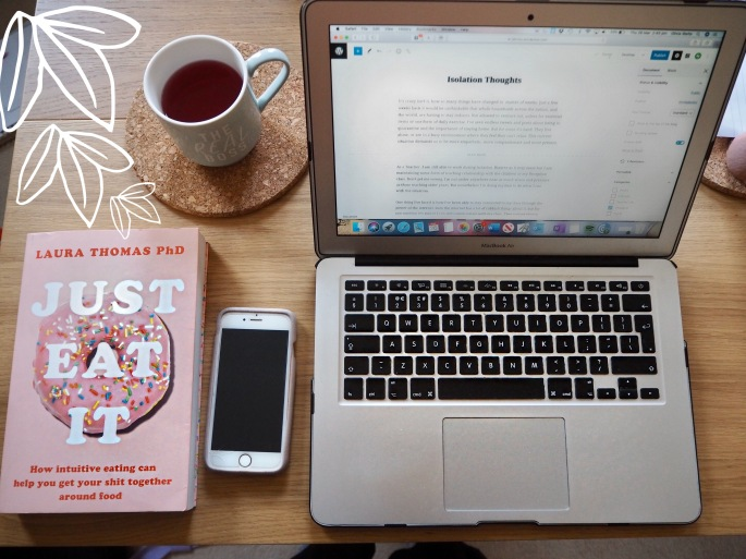 working from home blogging in quarantine and isolation
